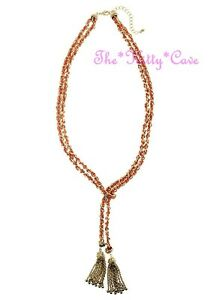 Deco Chic Gold amp Orange Silk Flapper Catwalk Lariat Tassels Knot Chain Necklace - <span itemprop=availableAtOrFrom>LONDON, United Kingdom</span> - Deco Chic Gold amp Orange Silk Flapper Catwalk Lariat Tassels Knot Chain Necklace - LONDON, United Kingdom