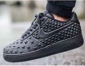Details about NWT Nike Air Force 1 LV8 VT STAR Independence Day Triple Black 789104 001 SZ 18