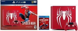 New-PlayStation-4-Pro-1TB-Limited-Edition-Console-Marvel-039-s-Spider-Man-Bundle