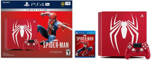 New PlayStation 4 Pro 1TB Limited Edition Console - Marvel's Spider-Man Bundle