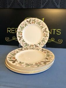 4-x-Wedgwood-Strawberry-Hill-20-5-Cm-Salad-Plates-2-Sets-Available
