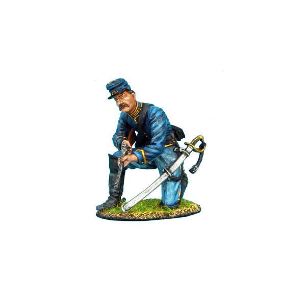 First Legion  ACW031 Union Dismounted Cavalry Trooper Kneeling Ready