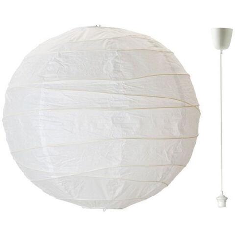 IKEA REGOLIT Papierlampe Hängeleuchtenschirm HEMMA Lampenaufhängung weiß NEU