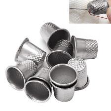 10pcs Finger Thimble Sewing Grip Finger Metal Shield Protector Pin Needles
