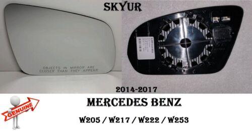 MERCEDES W205 W217 W222 W253 Passenger Door Rear Side View Mirror Glass GENUINE