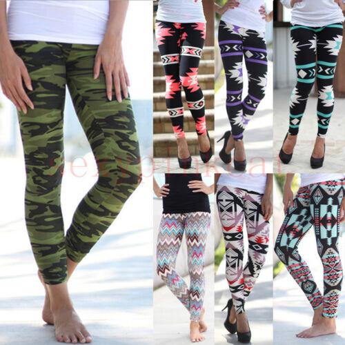 New Plus Size Leggings Vintage Women/'s Tribal Aztec Print Multi-Color Long Soft