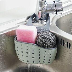 Home-Kitchen-Sink-Sponge-Brush-Draining-Holder-Organizer-Storage-Rack-Basket-NEW