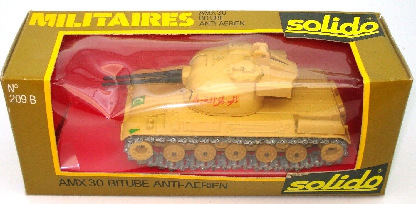 SOLIDO VINTAGE NO. 209 AMX30 ANTI AIRCRAFT TANK DESERT COLOURS  - MINT BOXED