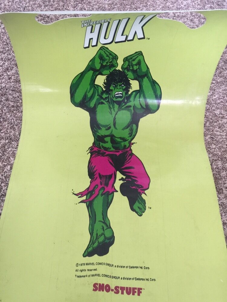 1979 L'incroyable Hulk Slik Traîneau Nº 5151 Marvel Comics groupe RARE Sno-Stuff