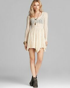 Image Is Loading Free People Witchy Skater Star Lace Boho Festival