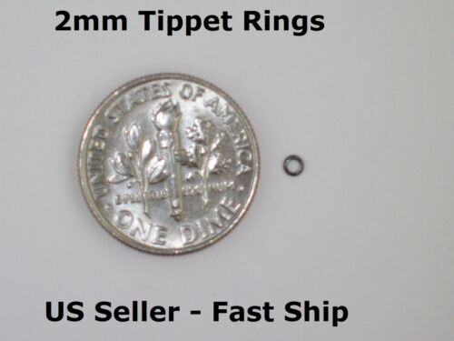 FREE SHIP! Premium Anti-Glare 2mm Fly Fishing Leader Tippet Rings Dry//Wet//Nymph