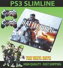 PLAYSTATION PS3 SLIM BATTLEFIELD 4 001 STICKER SKIN & 2 PAD SKINS