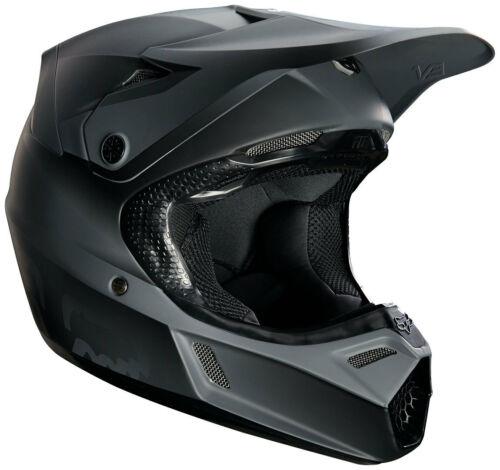 Fox v3 Matte Black Kids Motocross Helmet
