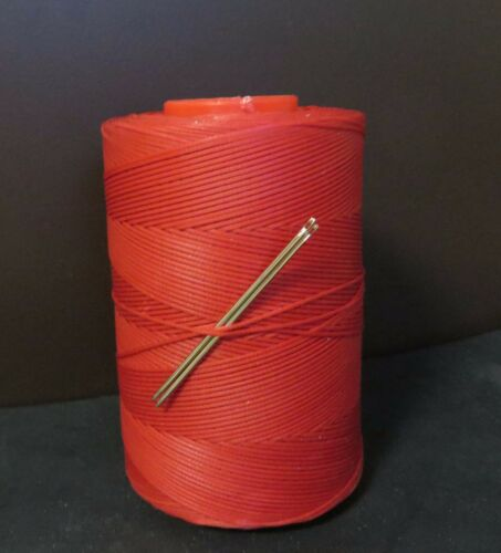 RITZA TIGRE WAXED HAND SEWING THREAD 0.6mm FOR LEATHER//CANVAS /& 2 NEEDLES RED