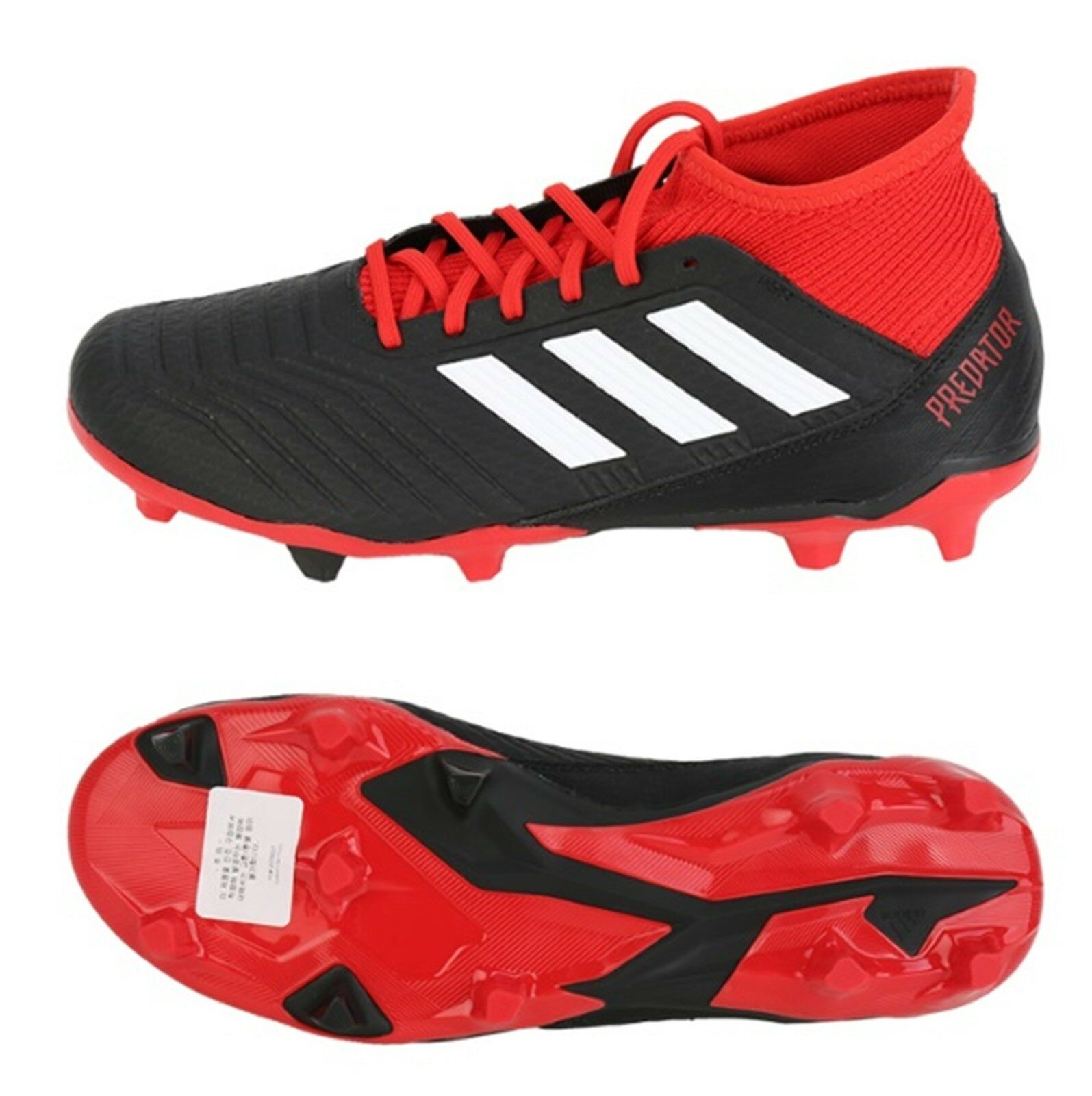 Adidas Men Predator 18.3 FG Cleats Red Soccer Football shoes Boots Spike DB2001