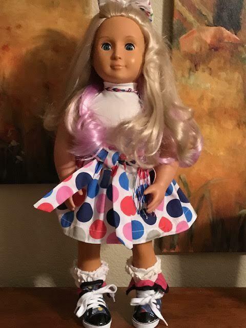Battat  Beautiful Beautiful Beautiful Doll  Blonde Hair With Rosa in it  Blau Sleep Eyes  18  d71c06