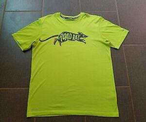 RARE Nike Road Rat T-shirt Night Running Dri Fit Tee Shirt Training ... dce92317645d7