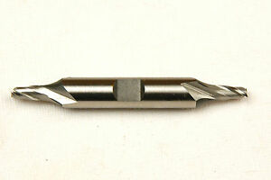 3/16 X 3/8 X 3/8 X 2-3/4 2 FLUTE DOUBLE END END MILL HSS USA (F-2-1-2)