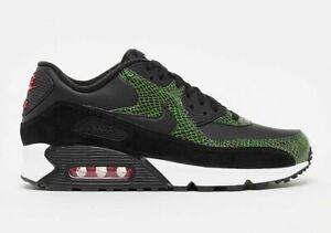 Mens-Nike-Air-Max-90-Green-Python-Black-Cyber-Fir-CD0916-001