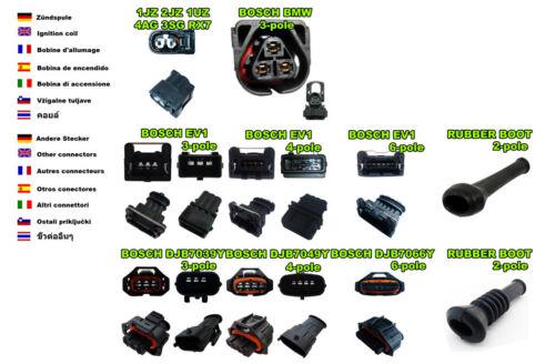 Injector plug auto car BOSCH EV1 SHORT 4 x FEMALE Fuel Injection Connectors