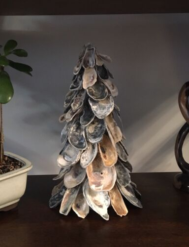 Accent Christmas Decoration Holiday Sz LARGE Oyster Shell Tree Centerpiece