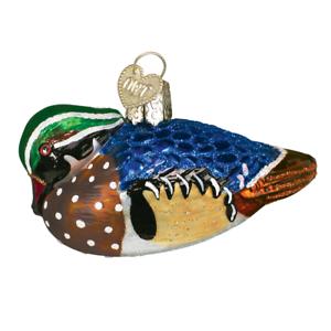 034-Wood-Duck-034-16046-X-Old-World-Christmas-Glass-Ornament-w-OWC-Box