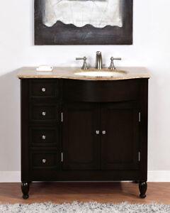 38-inch Bathroom Vanity Travertine Stone Counter Top Right ...