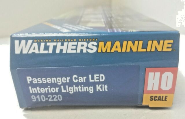 BUDD Passenger Car DC/DCC Interior LED Lighting Kit Walthers 910-220 HO Scale