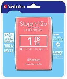 0-P-amp-H-Verbatim-2-5-034-Portable-Hard-Drive-HDD-USB-3-0-1TB-PINK-p-n-53173
