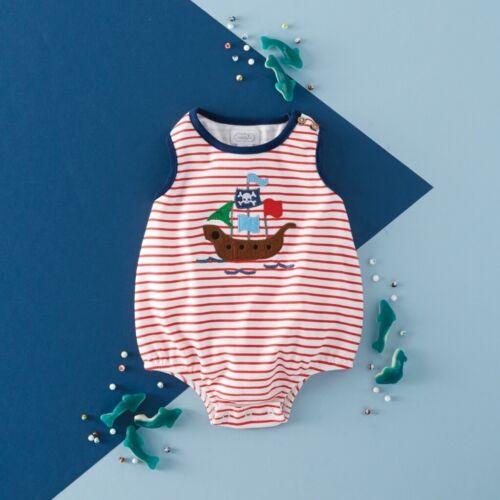 Mud Pie E1 Baby Boy Shark Tank Pirate Ship Bubble One-Piece 11030228 Choose