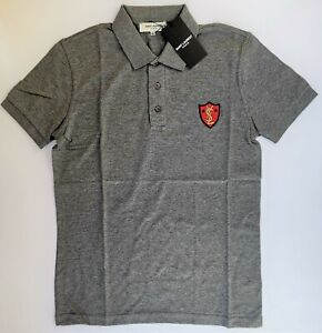 04e35c94f37 New YSL Men's YVES SAINT LAURENT Polo T-Shirt Size XL Paris Shark ...