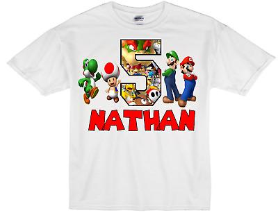 Mario Bros Team Mario Team Luigi Custom T Shirt Party Birthday Gift Name On Tee
