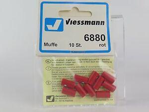 6880-VIESSMANN-Buchse-Rot-10U-Sockets-red-10-Stuecke