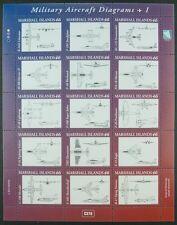 MARSHALL INSELN 2014 Militärflugzeuge Military Aircraft Diagramme I ** MNH