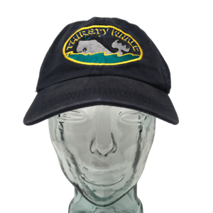 Thirsty-Whale-Bar-Harbor-Maine-Baseball-Cap-Hat-Cotton-Blue-OSFM-Strap-Back