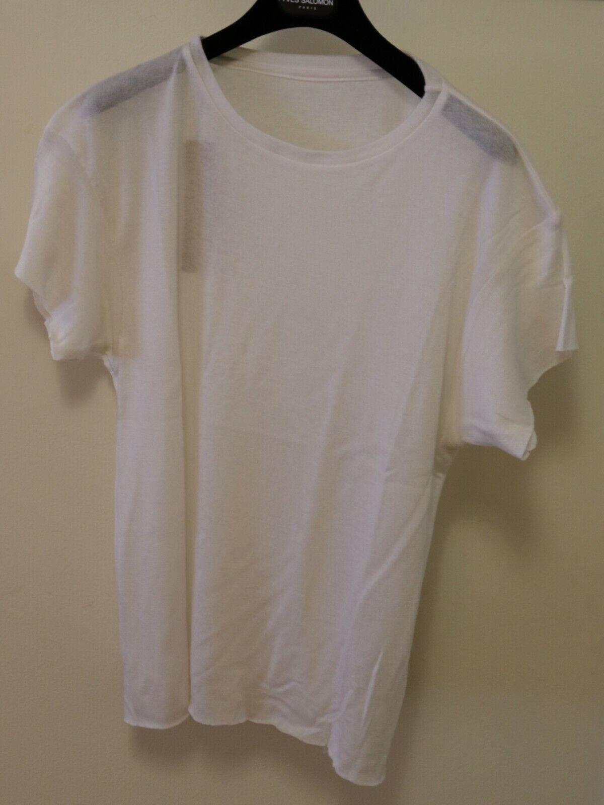 The Elder Statesman 'Favorite' Tshirt Cashmere Silk Weiß Größe Small Brand New