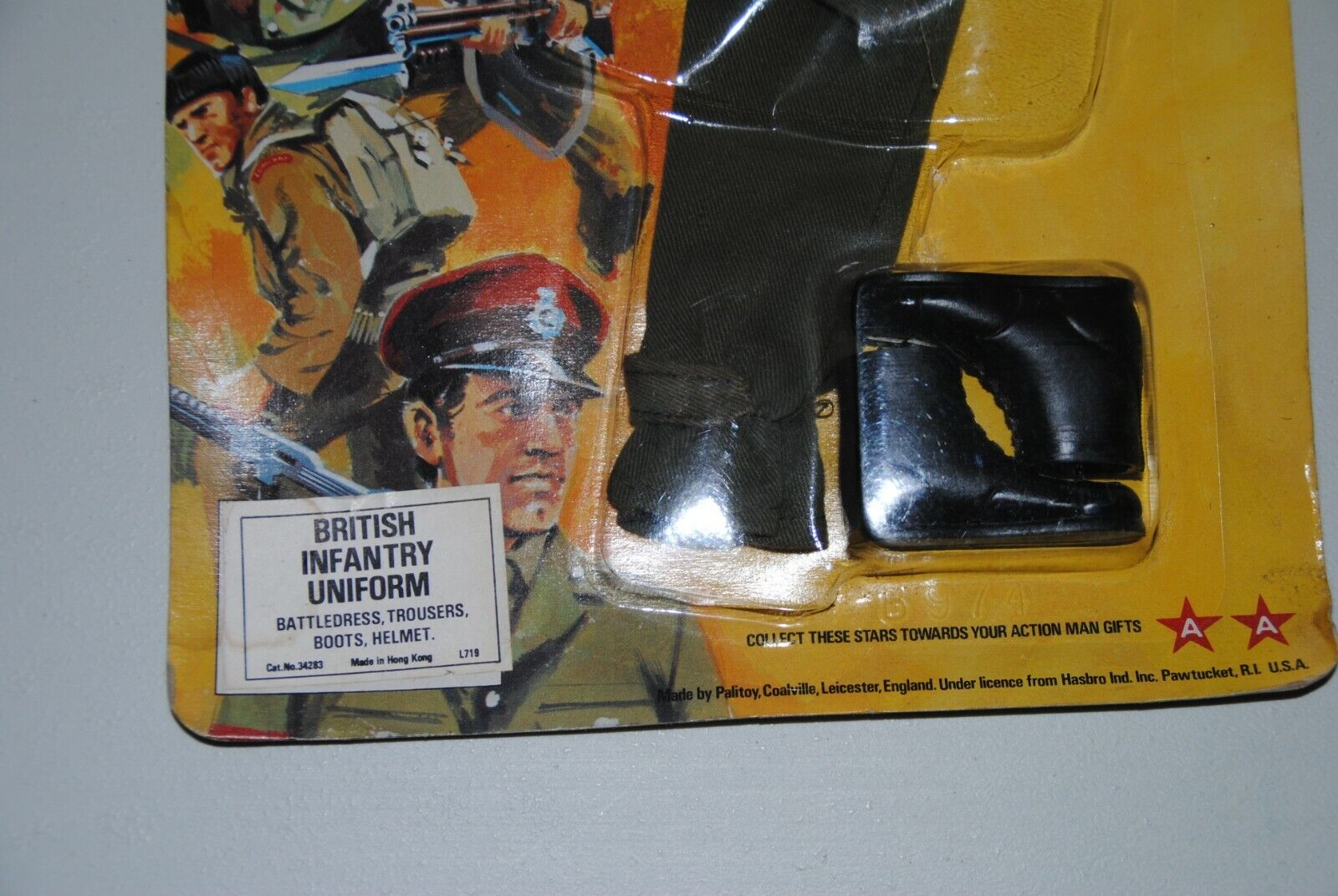 ACTION MAN palitoy FRONT LINERS   BRITTISH INFANTRY  UNIFORM       RARE