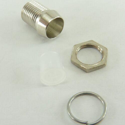 Métal Chromé DEL Holder 5 mm MOUNT BEZEL Case Silver Color C71