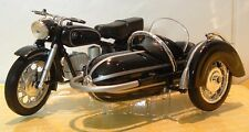 1:18 CLASSIC BMW R69S R69 COMBINATION OUTFIT SIDECAR MODEL STEIB VERY LTD BLACK