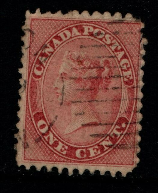 Colony of Canada 1859 1c One Cent Queen Victoria SG29 Used  see note