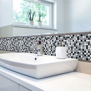 3D-Mosaico-Mattonelle-Della-Parete-Impermeabile-Autoadesivo-Brick-adesivo-per-cucina-bagno