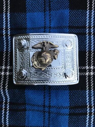 Homme Celtique Kilt Boucle de ceinture American Eagle Crest Finition Chrome Kilt Boucle de ceinture