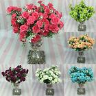 1 Bouquet 15 Head Artifical Rose Wedding Office Home Decor Silk Flower Spirited