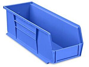 Image Is Loading Blue Stackable Storage Bin 15 034 L X 5