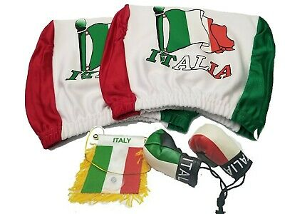 Italian flag mini banner Boxin golves Rear view mirror Italy flag