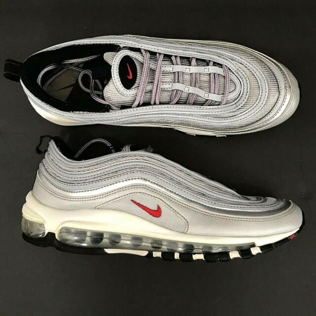 Nike Air Max 97 OG QS GS Silver Bullet Metallic Youth Sneakers 918890 001 Sz 7Y