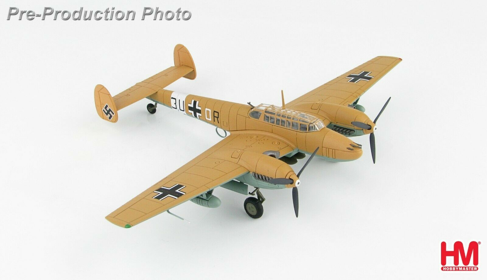 Chasseur Allemand Bf.110E-7 Tropical, Lybie 1942 - HOBBY MASTER 1 72 Réf. HA1815