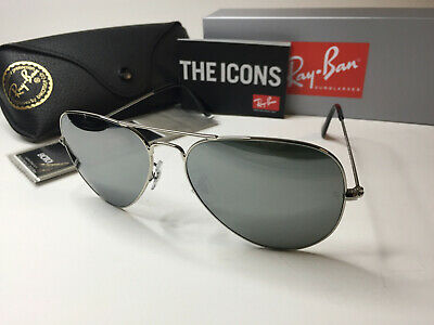 ray ban 3025 aviator rb3025 silver mirror w3277 58mm