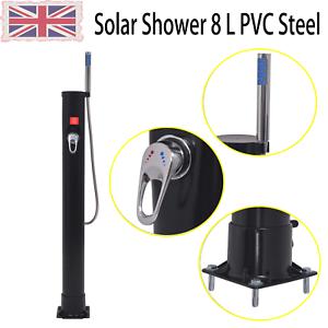 Convenient Garden Solar Shower 8 L Non-hazardous PVC Steel Patio Outdoor Yard