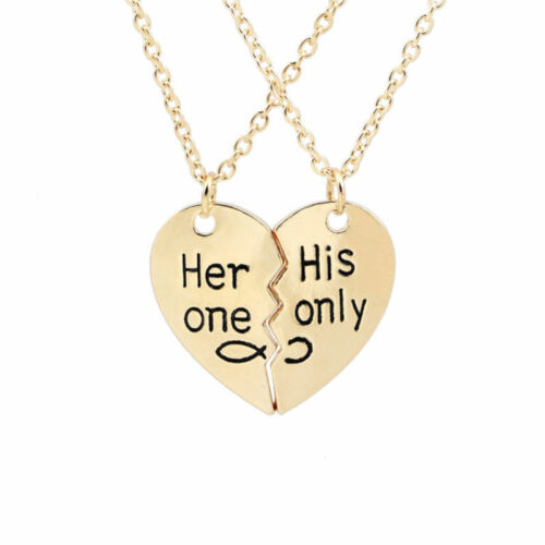 50cm Her One His Only Necklace Valentine Relationship Necklace for Lovers NEW